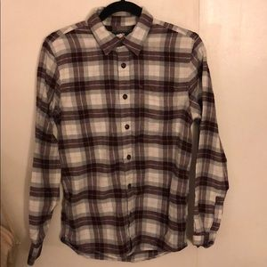 Roots Flannel Button Down Shirt. Size XS.